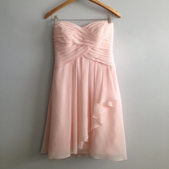 ba277a7dd79 David s Bridal Dresses   Skirts - Davids Bridal Short Crinkle Chiffon Dress  F14847